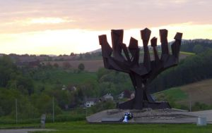 The State of Israel memorial at Mauthausen.