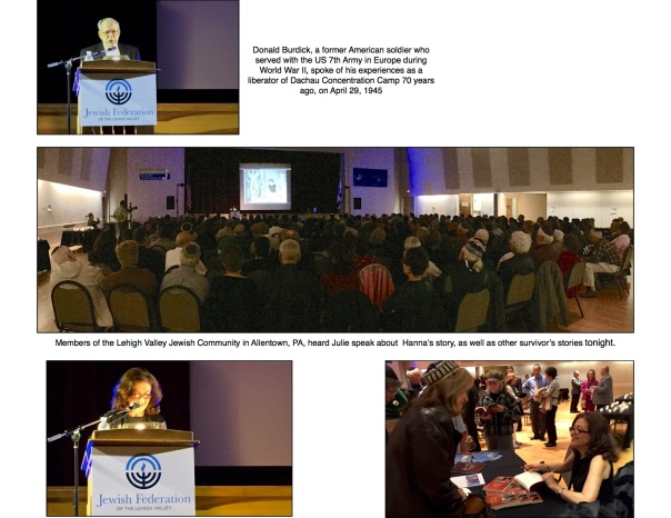 2015-04 Photo montage Yom Ha Shoah at Lehigh JCC